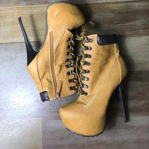 Breckelles Women Blazer Boots,Blazer-Camel 8.5-NEW